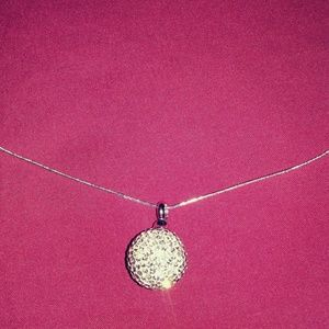 Jewelry - Cremation ash holder w/sterling silver necklace.